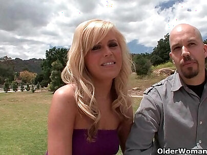 Busty blonde is cuckold mother