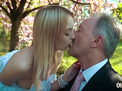 Baby Daisie young blond made to swallow cum
