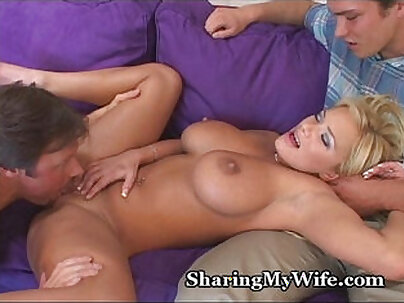 Busty housewife fucks with her load