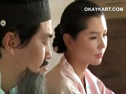 Beautiful korean girl sucking two dicks