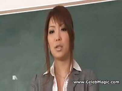 Japanese teacher Gets A Surprise In A Hotel Room!