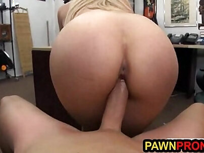 Horny Blonde Office Girl Ava teamed with Khloe