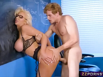 Busty Milf fucked by her teacher in her classroom