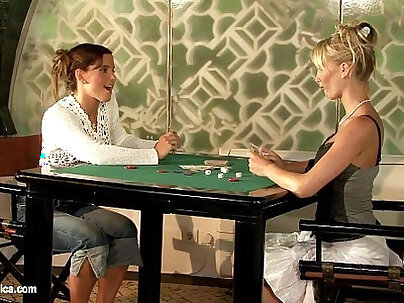 Artistic lesbians play with their dildo