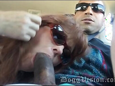 lovely woman doing a blow job and getting a facial