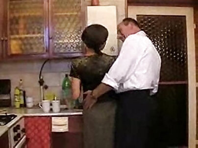 companions daughter kitchen fun with dad and lots of cum