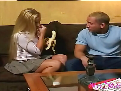 Slutty Blonde Can't Stop Fucking Her Favorite Cousin
