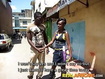 Amateur slut fucked by black ghetto stud