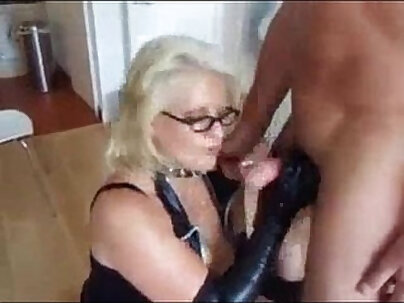 Cock Sucking Mature Gets Fucked Nice In Leather Dress