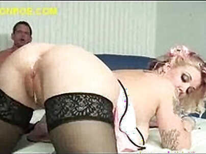 Busty blonde gets fucked by horny black stud