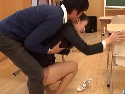 Kristina Daniels massive tits teacher sucking dudes cock