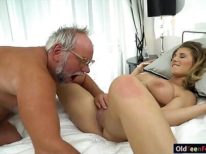 Mikayla wants grandpa to fuck her ass and pussy