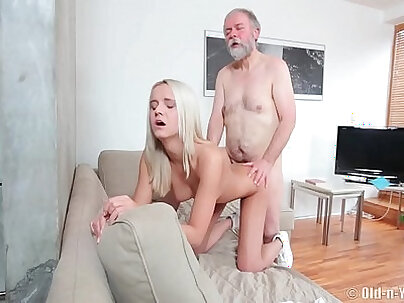 Young Czech girl Joleyn Burst fucked by old dude Pavel Terrier
