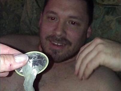 Slutty Hotwife sucks cock and fucks uber driver feeds condom to cuckold hubby