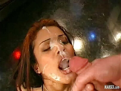Her mouth is full of male sperm