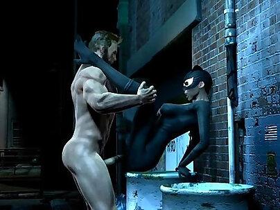 Woiverine Loves Catwoman 3D HD