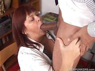 Busty and mature BBW with a meaty cock