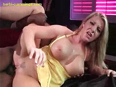 Blonde Working on an Interracial Baby