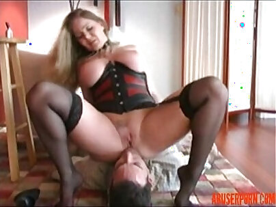 PAWG Facesits and Plays with Slave, Free masturbation Porn rough