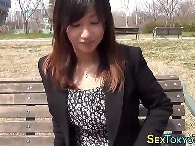 Tiny asian spreads pussy