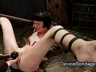 Strapped zippered babe toys her pussy finger fucked and vibed