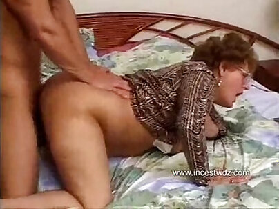 Subtitled nude streaming of wet grandma making montage