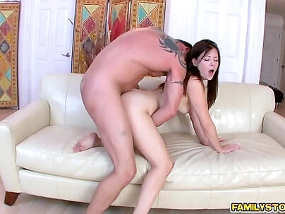 Punk thick pussy needs his daily step dad