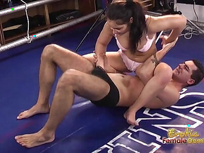 Babes in Fishnet Gear Dominate and Orgasmerize Strangers