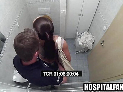 Brunette getting fucked in the bathroomband waits