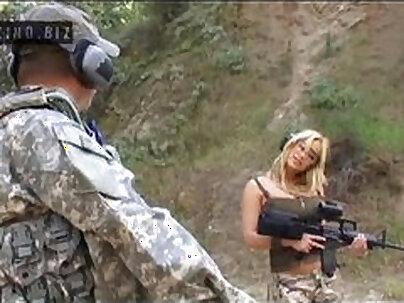 Busty girl in uniform masturbate