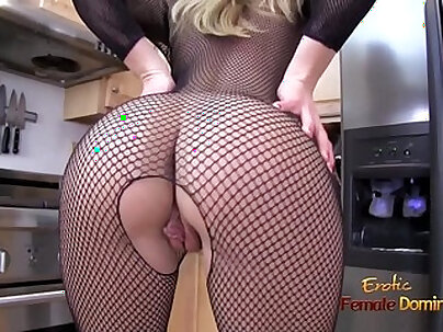 Stunning blond milf fucked in sexy stockings