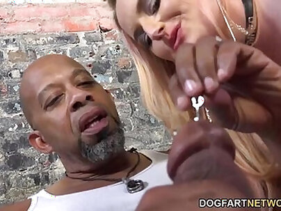 Cuckold Hoe Gets Whitened Up By Black Hubbys Big Cock