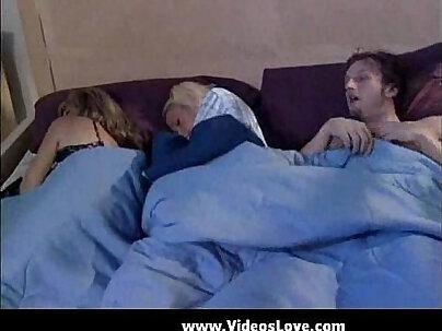 Black mom sleeps with load sharking her boyfriend head