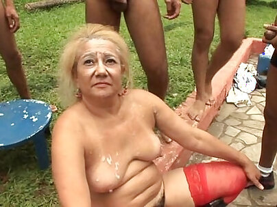 Punk gang banged lesbian granny pussies hardcore fucking