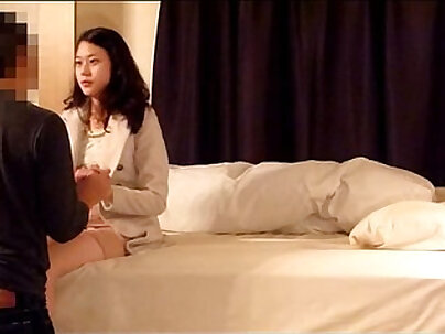 Korean couple having and getting submissive sex with their boyfriend