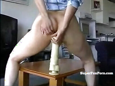 Asian Anal Monkey with Dildo and Cream Pie