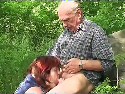 Pretty Granny Tries Tiny In Hotel Outdoors