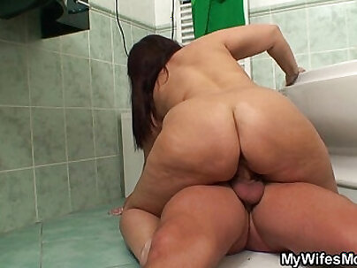 Busty Mom Is Riding Studs Big Black Cock