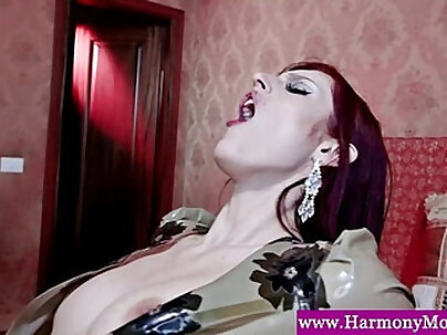 Amazing redhead double dared ride huge cock
