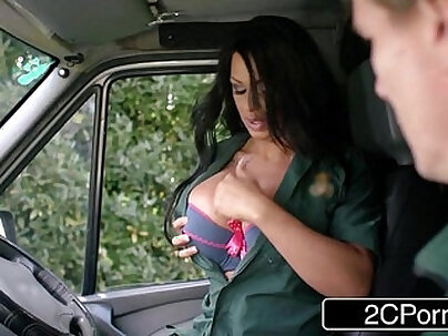 Busty EMT Kerry Louise Big Tits Guarantee Patient Rapid Recovery