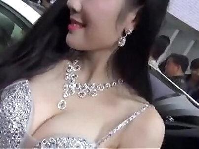 Chinese freak fucks swinger playing holes