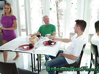 Milf stepmom gets jizz in mouth before she gets ass worshiped