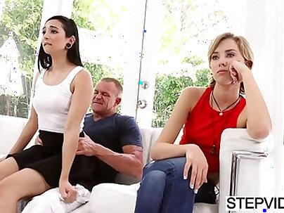 Dirty stepdaughter pleasing her stepdad POV style