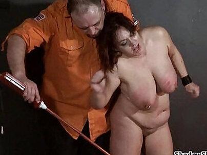 Bondage fat girls in muscle threeway