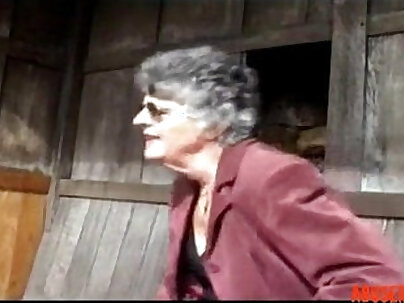 Guy shoots his load into my mature granny