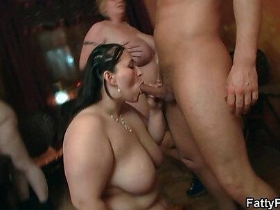 Wild bbw sex in the fat club