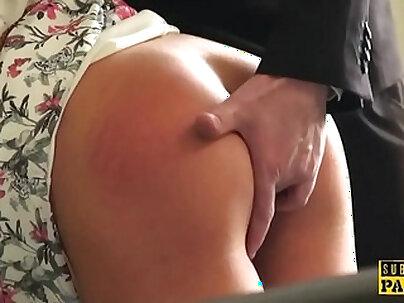 British slut Same Lira rides and deep throats and gets spanked
